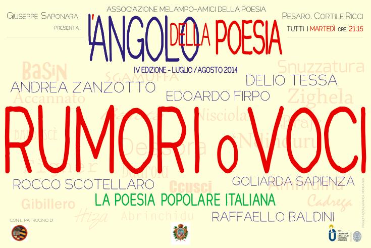 L'ANGOLO DELLA POESIA 2014 | 8 luglio – 12 agosto, Pesaro: ecco ilprogramma