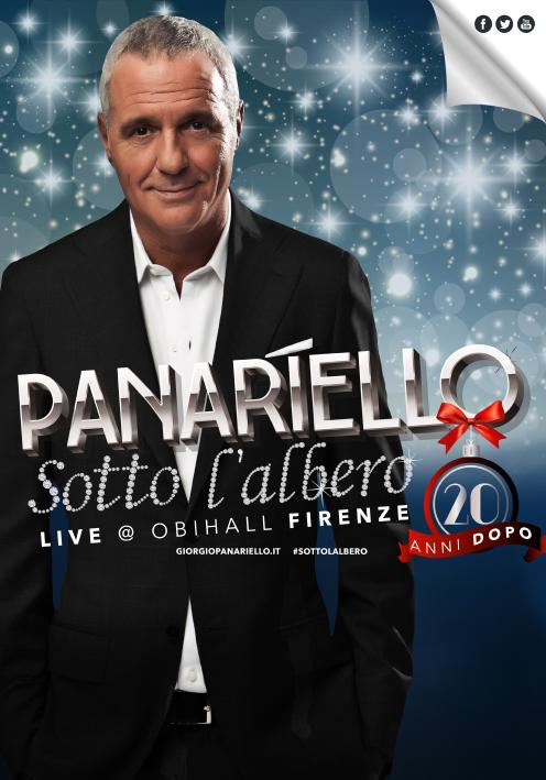 GIORGIO PANARIELLO: SOLD OUT all'Obihall di Firenze per la prima (e anche per stasera e domani ) di  PANARIELLO SOTTO L'ALBERO. Vent'annidopo.