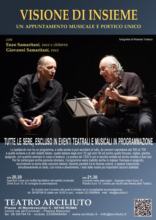 @TeatroArciliuto la nuova stagione. Spettacoli, concerti, teatro e tanto altro (Settembre |Ottobre)