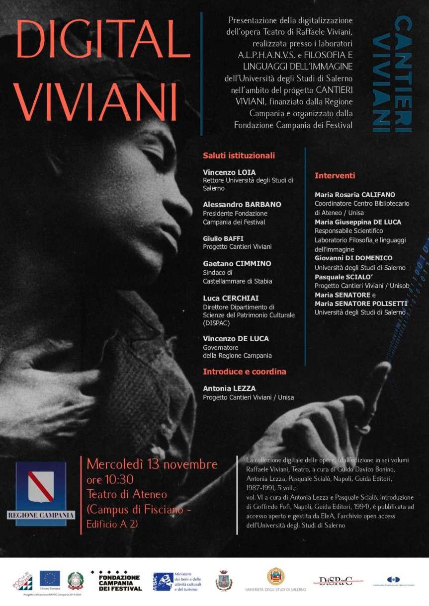 Cantieri Viviani | E' tempo di Digital per le opere del Teatro di RaffaeleViviani